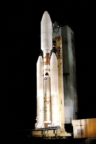 Titan 4B with Cassini-Huygens on board with the second launch attempt at Lauch Pad 40