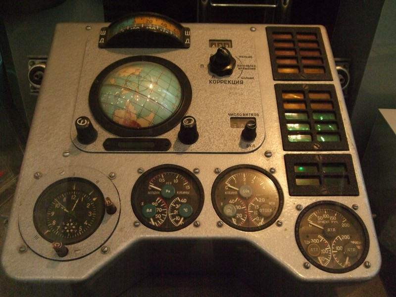 Part of Vostok-1 spacecraft control panel
