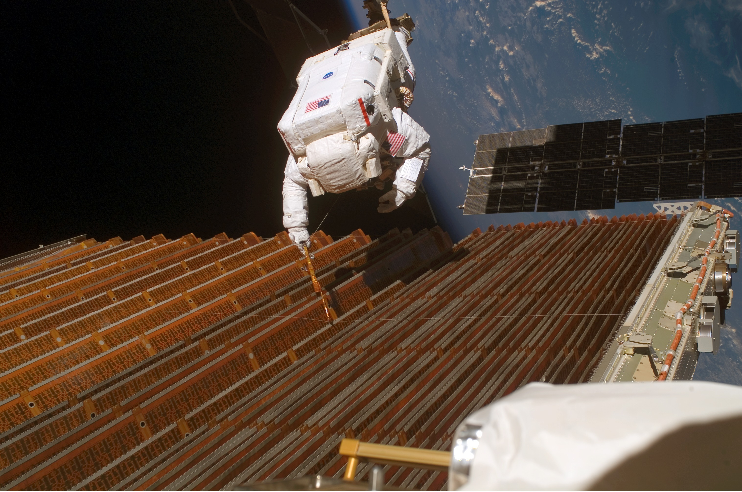 STS-116 Solar Panel Spacewalk