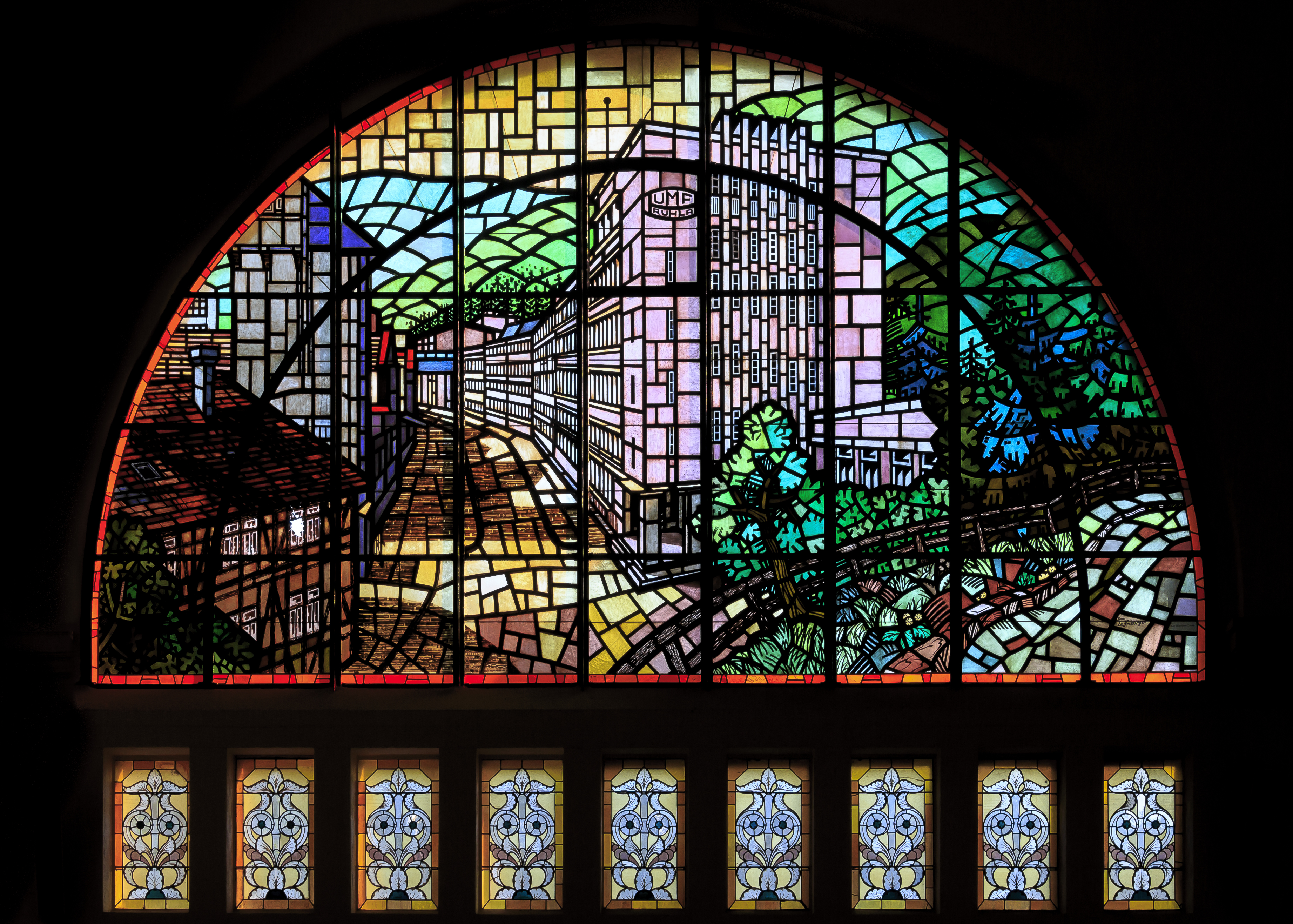 Eisenach Germany Stained-glass-windows-in-Railway-station-02