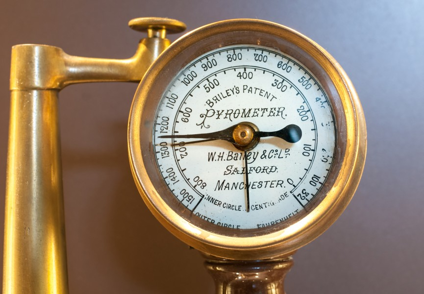 Bourdon pressure gauge, Train pressure meter, recife train museum, Pernambuco State, Brazil