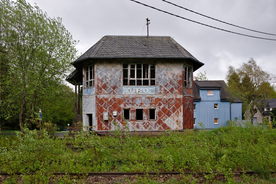 Sourbrodt train station signal box (DSCF5821) Waimes, Belgium